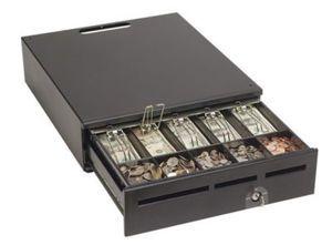 "MMF MediaPLUS Cash Drawer (16"", Domestic Tray, 12/24V and Standard Lock) - Color: Black"