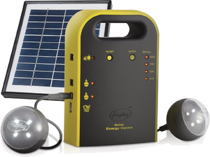 Freeplay Energy Hub Mini Solar Power Generator with Solar Panel and LED Lights