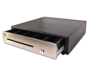 "POS-X ION Cash Drawer, 18"" x 18"", Stainless Steel Face, 2 Media Slots"