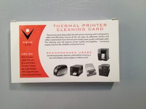Thermal Printer Cleaning Cards 2 x 6 (25 / Box)