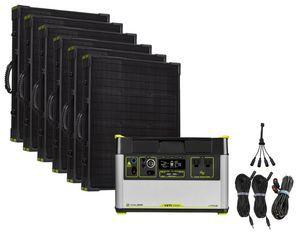 Goal Zero Yeti 1500X Portable Solar Generator Maximum Intake Kit with (6) Boulder 100 Briefcase Panels