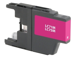 Brother LC75M Compatible Inkjet Cartridge (600 page yield) - Magenta