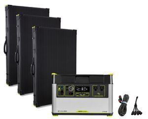 Goal Zero Yeti 1500X Portable Solar Generator Maximum Intake Kit with (3) Boulder 200 Briefcase Panels