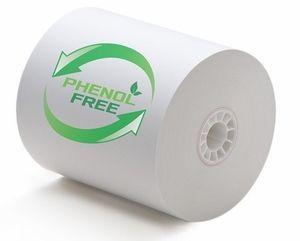 "3 1/8"" x 230' (80mm x 70m) BPA & BPS Free Thermal Paper (50 rolls/case) - Phenol Free"