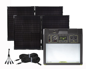 Goal Zero Yeti 3000 Lithium Solar Generator Kit with 2 Boulder 100 Watt Solar Briefcases - V2 with Wi-fi