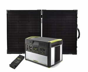 Goal Zero Yeti 1400 Lithium Portable Solar Generator Kit with MPPT & Boulder 100 Briefcase - V2 with Wi-fi