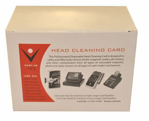 Card Reader Cleaning Swipe Cards  (50 / box)