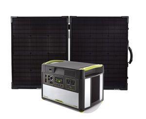 Goal Zero Yeti 1400 Lithium Portable Solar Generator Kit with Boulder 100 Briefcase