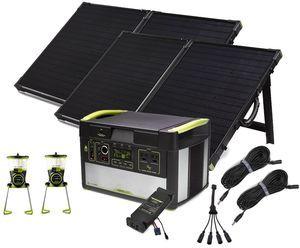 Goal Zero Yeti 1000 Lithium Portable Solar Generator Essentials Kit - Featuring 2 Boulder 100 Solar Panels