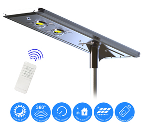 Earthtech Products 50 Watt LED Ultra High Powered Solar Street Light - 5000 Lumens