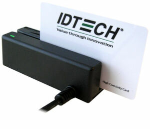 ID Tech, MiniMag II, MSR, Track 1 & 2, USB Keyboard Emulation, Black