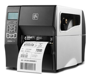 "Zebra ZT230 Industrial Label Printer with Thermal Transfer, 4"" Print Width, 300 DPI, Cutter, 10/100 Ethernet"