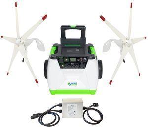 Natures Generator Portable 1800 Watt Dual Wind Turbine Generator Kit