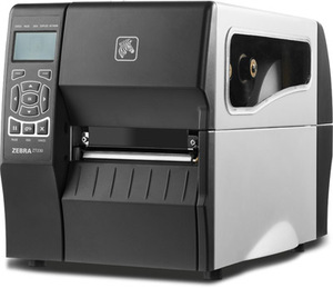 "Zebra ZT220 Industrial Label Printer with Thermal Transfer, 4"" Print Width, 203 DPI, 10/100 Ethernet"