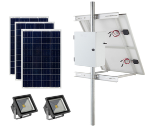 Earthtech Products Commercial Solar Flag Pole Lighting Kit for Flagpoles Up to 35 Feet - 2 Lights (4500 Total Lumens)