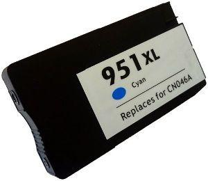 HP CN046AN #951XL Compatible Inkjet Cartridge (1500 page yield) - Cyan