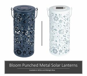 Bloom Punched Metal Solar Lanterns
