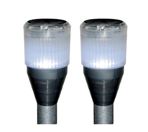 2pk Dock Edge Solar Dock Lights - For Fresh Water Use