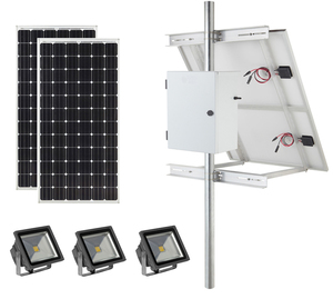 Earthtech Products Commercial Solar Flag Pole Lighting Kit for Flagpoles Up to 40 Feet - 3 Lights (7900 Total Lumens)