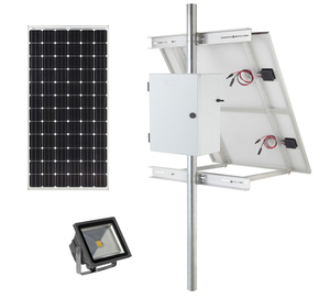 Earthtech Products Solar Sign & Landscape Light Kit - 1 Light (3950 Lumens), 250W Solar Panel, (2) 140 Ah Batteries