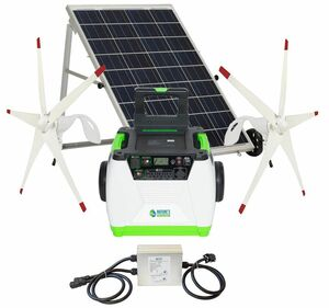 Natures Generator Portable 1800 Watt Solar and Dual Wind Generator Kit