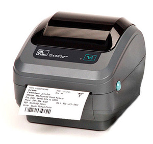 Zebra GX420D Desktop Label Printer with 802.11B/G (Replaces Parallel), LCD Display