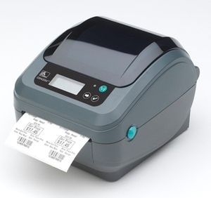 Zebra GX420D Desktop Label Printer with Dispenser (Peeler), Adjustable Black Line Sensor, Extended Memory and Real Time Clock
