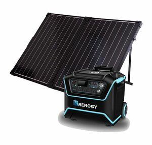 The Lycan Powerbox Solar Generator Kit with 100 Watt Suitcase Panel