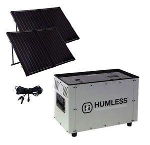 Humless GO Plus 1500 Series 1.3 kWh Solar Generator with 1500 Watt Inverter & 260 Watts of Solar Panels