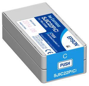Epson SJIC22P(C) Ink Cartridge for Epson TM-C3500 - Cyan