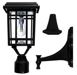 Prairie Bulb Solar Lamp Post Light in Black