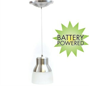 EZ Pull Pendant Light with Remote Control - Brushed Nickel