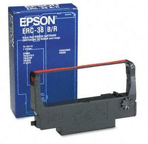 OEM Epson ERC 30/34/38 Printer Ribbons (1 per box) - Black/Red