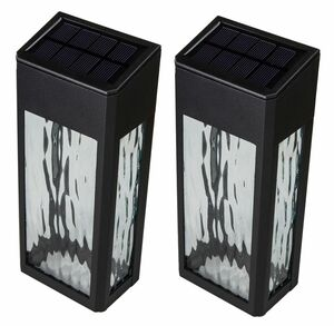 Black Aluminum Lancaster Deck Wall Light - 2 pk