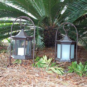Solar Flickering Candle Lantern - Tabletop