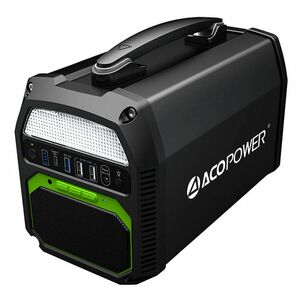 ACO Power 462Wh/500W Portable Solar Generator with Integrated Bluetooth Speaker