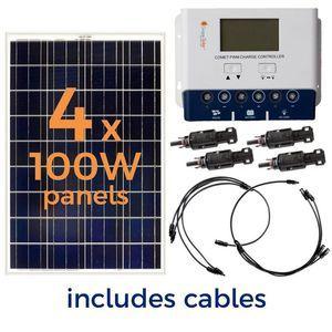 Grape Solar 400 Watt Off-Grid Solar Panel Kit