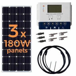 Grape Solar 540 Watt Off-Grid Solar Panel Kit