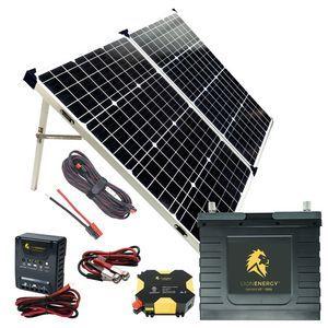Lion Energy Beginner DIY Solar Power Kit Featuring the UT 1300 Lithium Battery