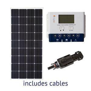 Grape Solar 200-Watt Off-Grid Solar Kit for Homes, Cabins, Boats and RVs