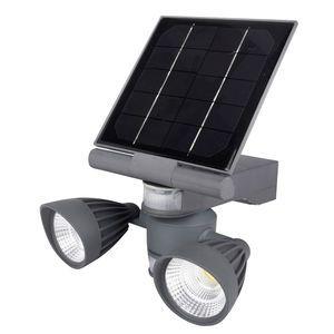 Pacific Accents 2 x 5 Watt COB LED Solar Security Spotlight - 600 Lumens