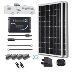 Renogy 200 Watt 12 Volt Monocrystalline Solar RV Kit