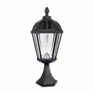 Royal Bulb Solar Light with Base Mount - Black