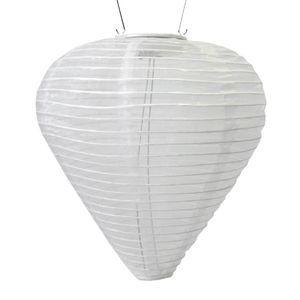 Silk Effects Solar Lanterns - TearDrop Pearl