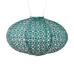 Soji Stella Tyvek Oval Solar Lantern - Emerald