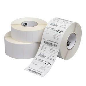 "2"" x 1""  Zebra Thermal Transfer PolyPro 4000T Kimdura Polypropylene Label;  3"" Core;  3940 Labels/roll;  4 Rolls/carton"