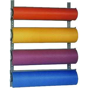 "24"" Butcher Paper Dispenser Four Roll Wall Rack"