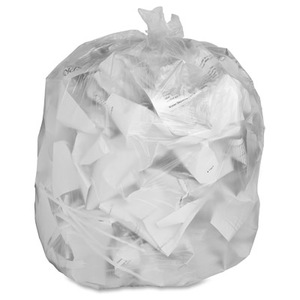 "33"" x 40"" - 11 micron Trash Bags (500 bags/case) - Clear"
