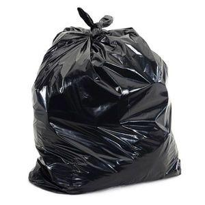"33"" x 40"" - 16 micron Trash Bags (250 bags/case) - Black"