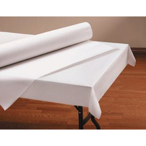"40"" x 100'  Paper Table Cover (1 roll) - Plain White Kraft"